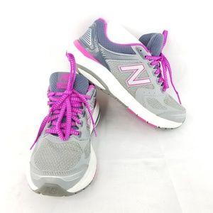 New Balance Grey Pink Running Shoes
